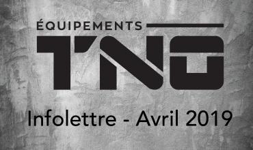 Infolettre - Avril 2019